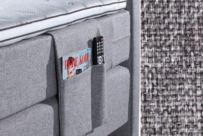 Kišenė smulkiems daiktams su baldiniu pilkos spalvos audiniu Sleepwell RED serijos lovoms