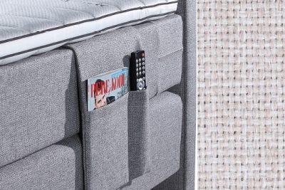 Kišenė smulkiems daiktams su baldiniu smėlio (biežinės) spalvos audiniu Sleepwell RED serijos lovoms