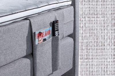 Kišenė smulkiems daiktams su baldiniu šviesiai pilkos spalvos audiniu Sleepwell RED serijos lovoms