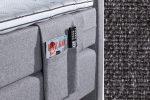 Kišenė smulkiems daiktams su baldiniu tamsiai pilkos spalvos audiniu Sleepwell RED serijos lovoms