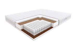 Kietas viengulis spyruoklinis čiužinys lovai Hilding Pasodoble Velvet-struktūra