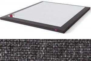 TOP HR Foam Plus antčiužinis su baldiniu tamsiai pilkos spalvos audiniu Sleepwell RED serijos lovoms