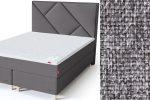 Geometry galvūgalis su baldiniu pilkos spalvos audiniu Sleepwell RED serijos dvigulėms lovoms