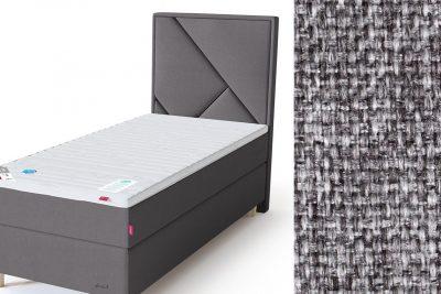 Geometry galvūgalis su baldiniu pilkos spalvos audiniu Sleepwell RED serijos lovoms