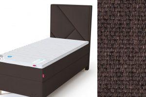 Geometry galvūgalis su baldiniu rudos spalvos audiniu Sleepwell RED serijos lovoms