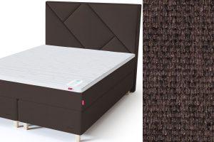 Geometry galvūgalis su baldiniu rudos spalvos audiniu Sleepwell RED serijos dvigulėms lovoms