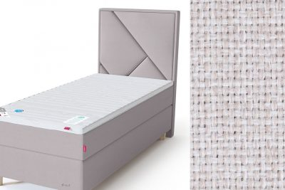 Geometry galvūgalis su baldiniu smėlio (biežinės) spalvos audiniu Sleepwell RED serijos lovoms