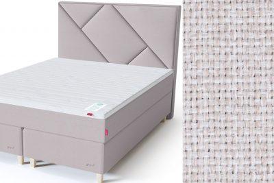 Geometry galvūgalis su baldiniu smėlio (biežinės) spalvos audiniu Sleepwell RED serijos dvigulėms lovoms