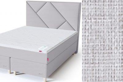 Geometry galvūgalis su baldiniu šviesiai pilkos spalvos audiniu Sleepwell RED serijos dvigulėms lovoms