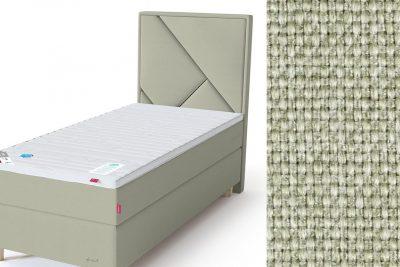 Geometry galvūgalis su baldiniu šviesiai žalios spalvos audiniu Sleepwell RED serijos lovoms