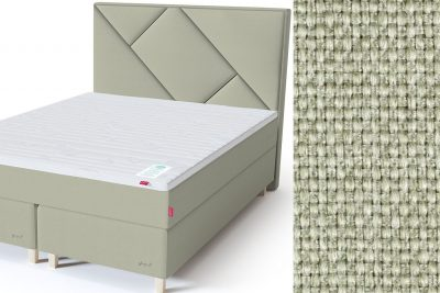 Geometry galvūgalis su baldiniu šviesiai žalios spalvos audiniu Sleepwell RED serijos dvigulėms lovoms