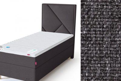 Geometry galvūgalis su baldiniu tamsiai pilkos spalvos audiniu Sleepwell RED serijos lovoms