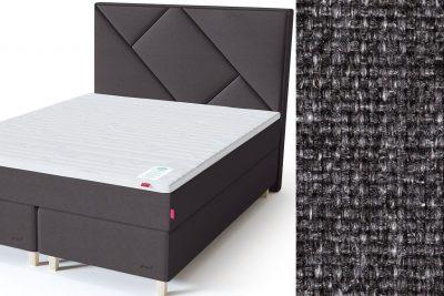 Geometry galvūgalis su baldiniu tamsiai pilkos spalvos audiniu Sleepwell RED serijos dvigulėms lovoms