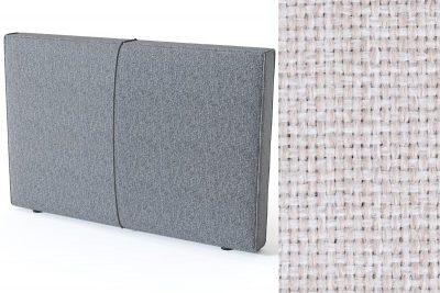 Pillow galvūgalis su baldiniu smėlio (biežinės) spalvos audiniu Sleepwell RED serijos lovoms