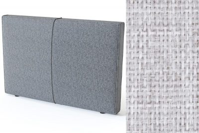 Pillow galvūgalis su baldiniu šviesiai pilkos spalvos audiniu Sleepwell RED serijos lovoms