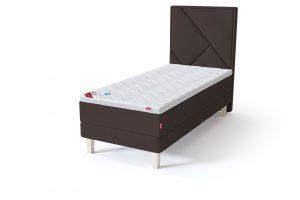 Sleepwell RED Continental Base viengulė miegamojo lova su čiužiniu / TOP HR Foam Plus antčiužinis ruda spalva