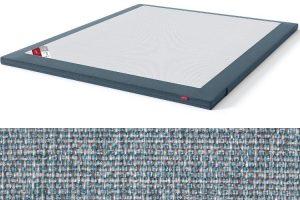 Antčiužinis su baldiniu audiniu Sleepwell BLACK serijos lovoms šviesiai mėlyna spalva-audinys