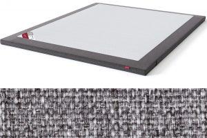 Latekso antčiužinis su baldiniu audiniu Sleepwell RED serijos lovoms TOP Latex Lux pilka spalva-audinys