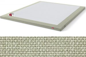 Latekso antčiužinis su baldiniu audiniu Sleepwell RED serijos lovoms TOP Latex Lux šviesiai žalia spalva-audinys