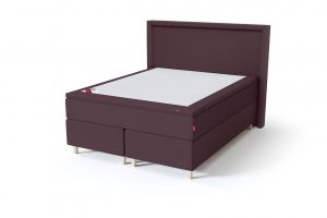 Sleepwell BLACK Continental tipo dvigulė miegamojo lova su čiužiniu / BLACK Lined galvūgalis / TOP Latex Lux antčiužinis, rausvai ruda spalva